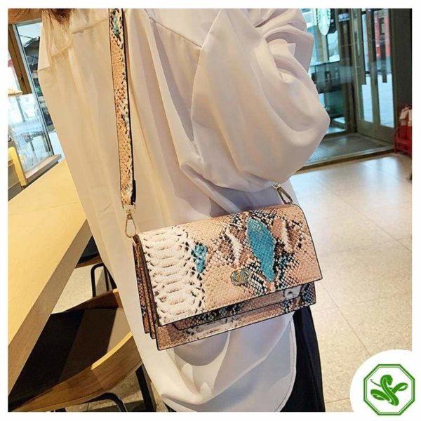Multicolor Snakeskin Bag 3