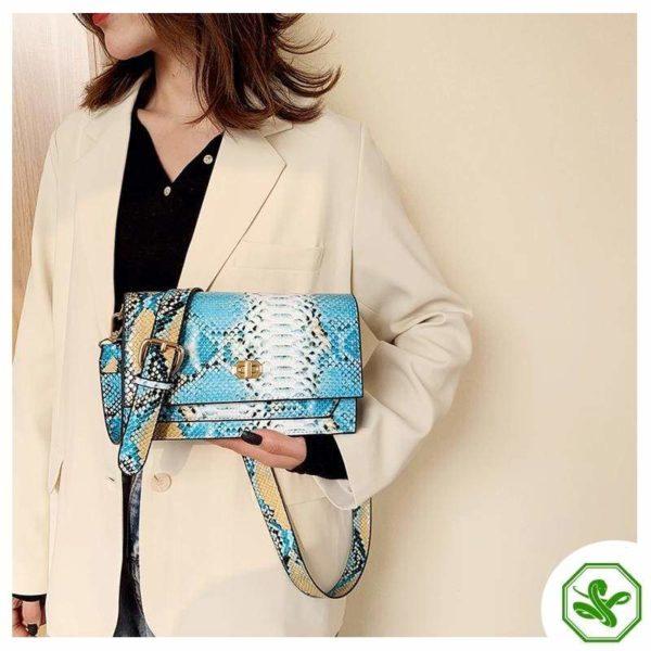 Multicolor Snakeskin Bag 22