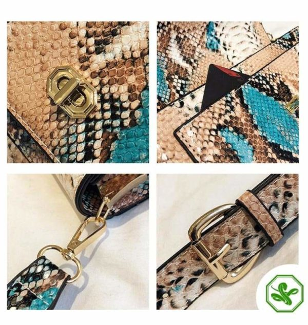 Multicolor Snakeskin Bag 14