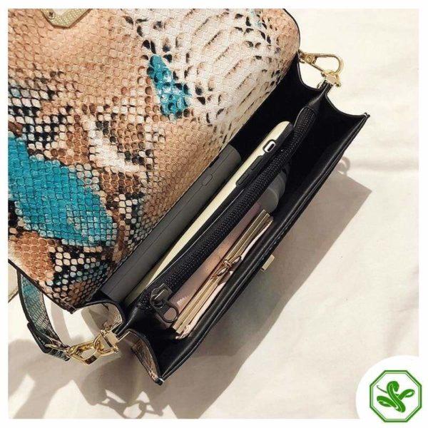 Multicolor Snakeskin Bag 10