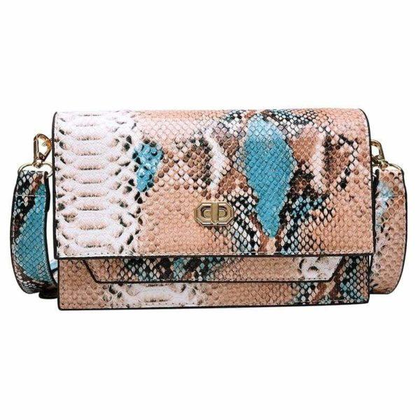 Multicolor Snakeskin Bag 1