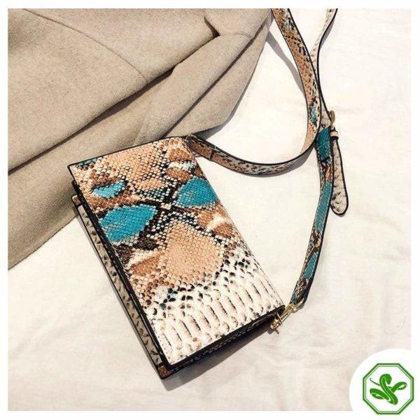Multicolor Snakeskin Bag 6