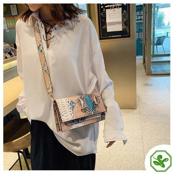 Multicolor Snakeskin Bag 7