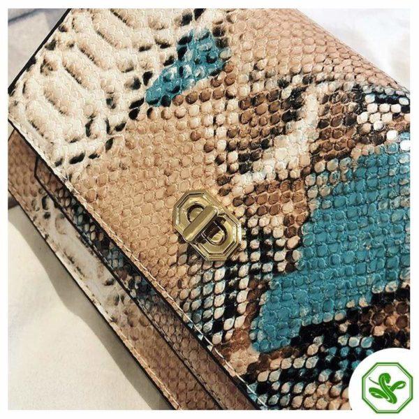 Multicolor Snakeskin Bag 25