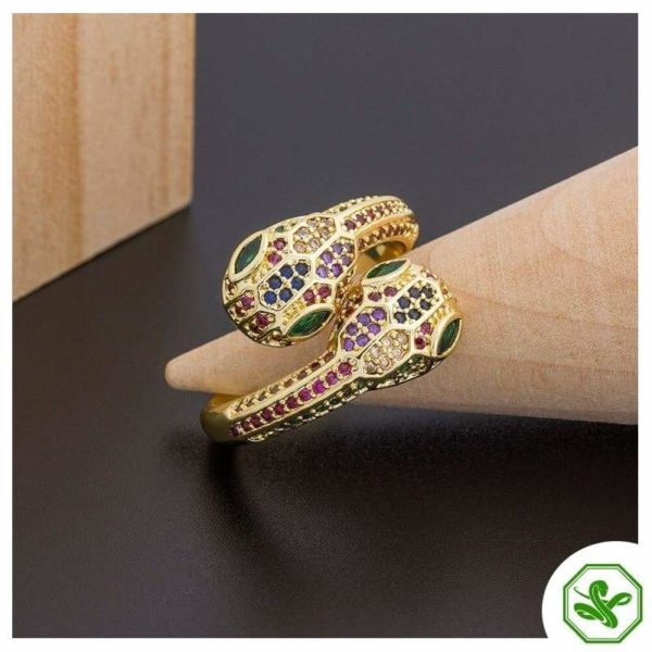 snake ring multicolored