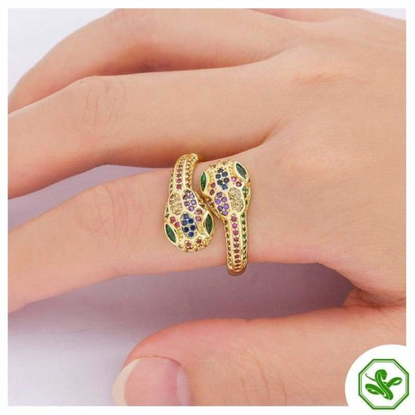 beautiful snake ring multicolored