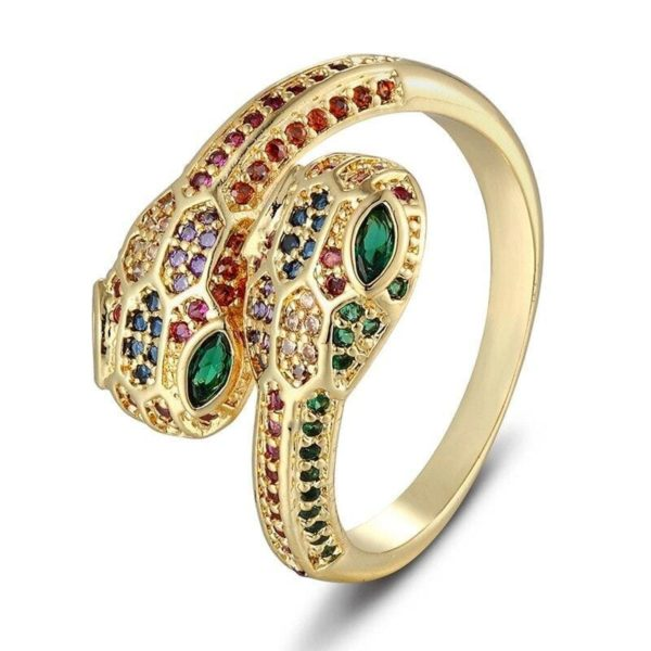 multicolor snake ring