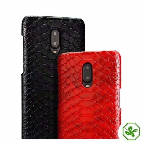 OnePlus Snakeskin Phone Case Black and Red