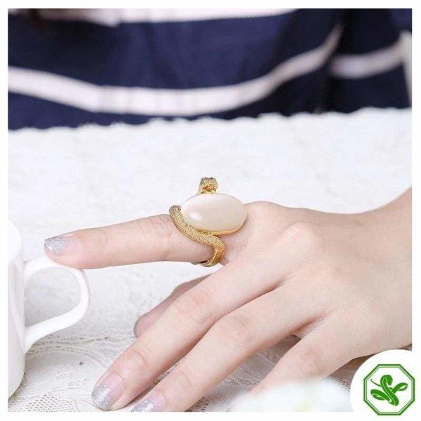 Opal Snake Ring 7