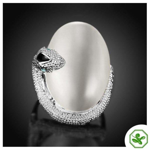 Opal Snake Ring 9