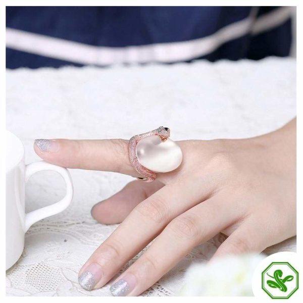 Opal Snake Ring 2