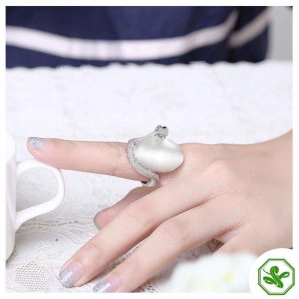 Opal Snake Ring 10