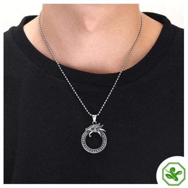 silver snake necklace for man