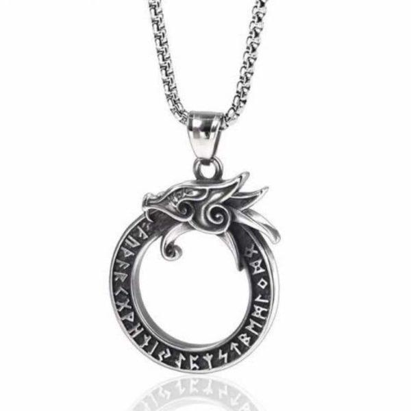 ouroboros necklace silver