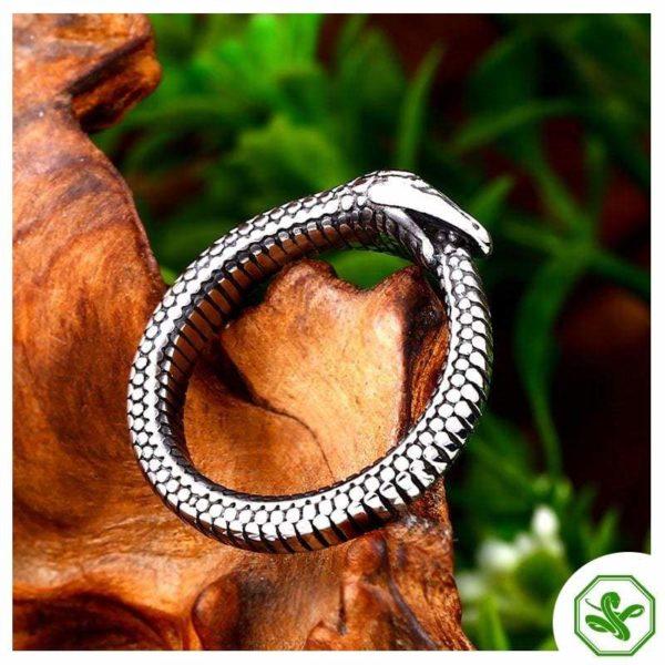 Ouroboros Ring Men's Stainless Steel