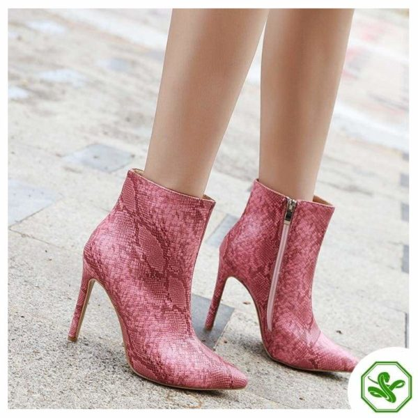 Pink Snake Boots 2
