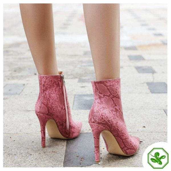 Pink Snake Boots 6