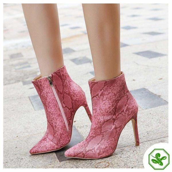 Pink Snake Boots 5