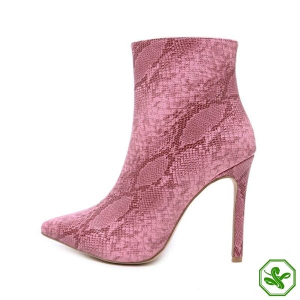 Pink Snake Boots 7