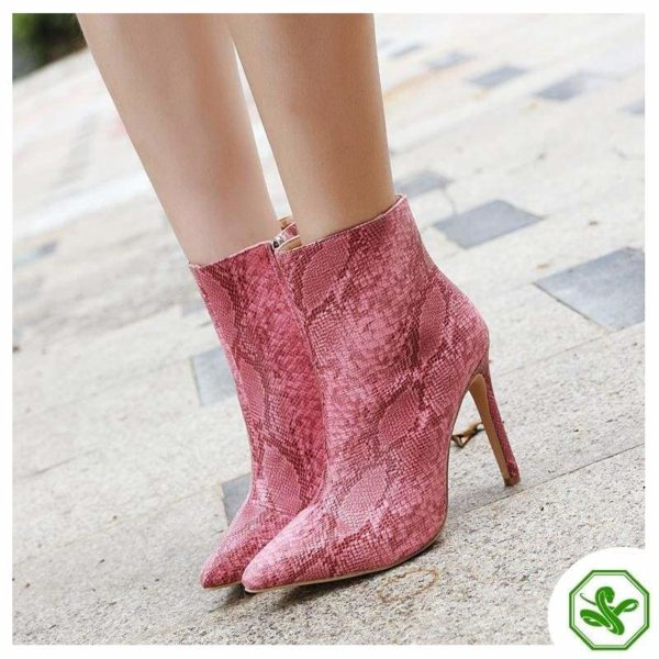 Pink Snake Boots 4