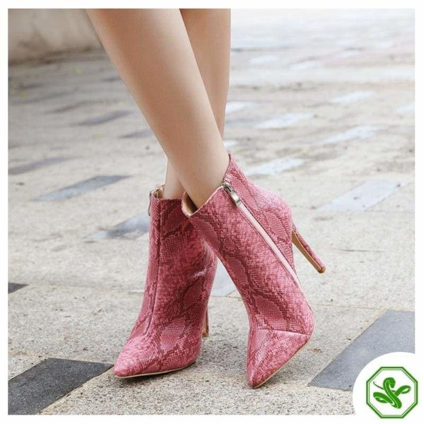 Pink Snake Boots 3