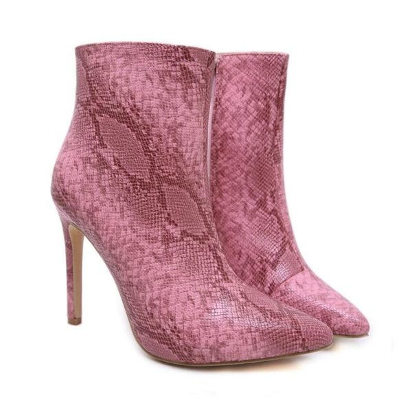 Pink Snake Boots 1