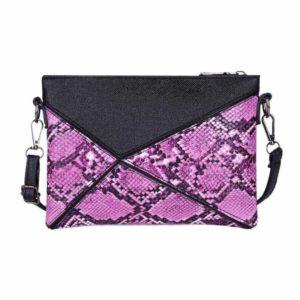 Pink Snakeskin Clutch bag