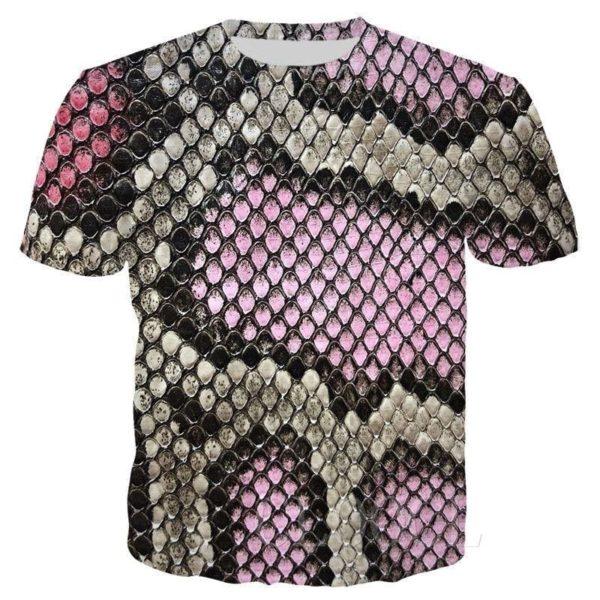 pink snakeskin t-shirt
