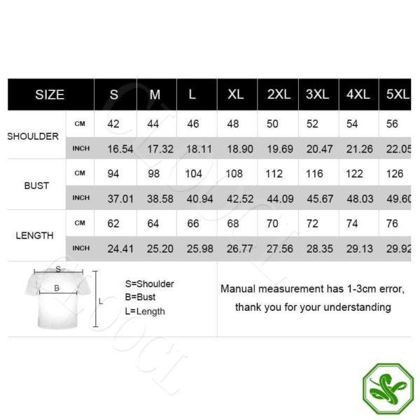 snake shirt size guide