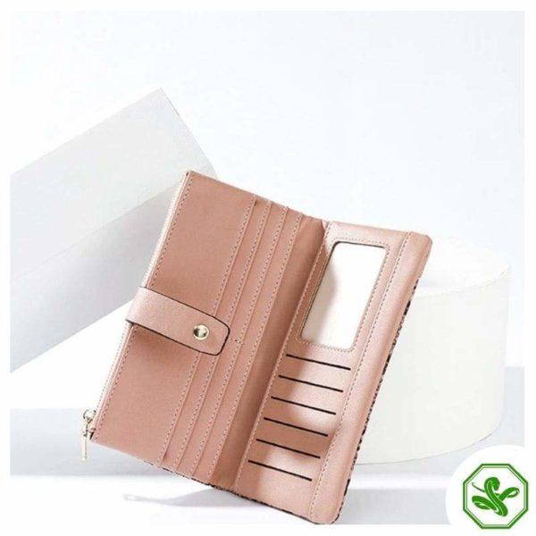 Snakeskin Wallet Pink