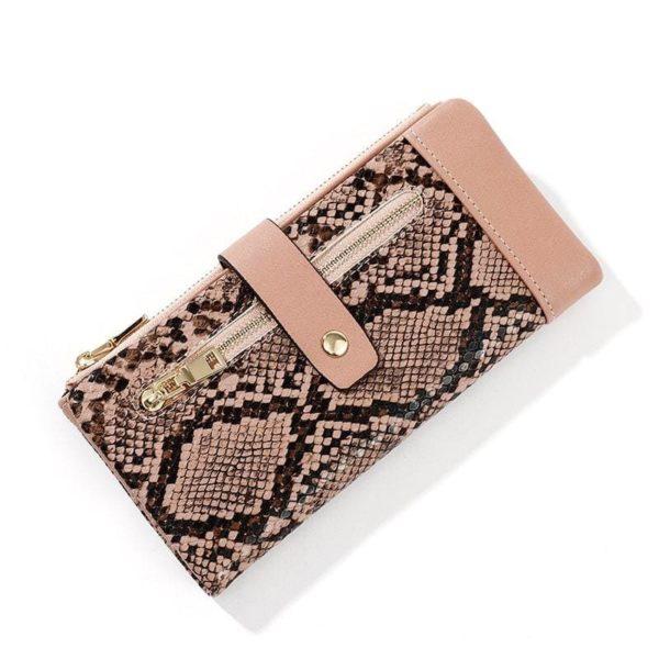 Pink Snakeskin Wallet
