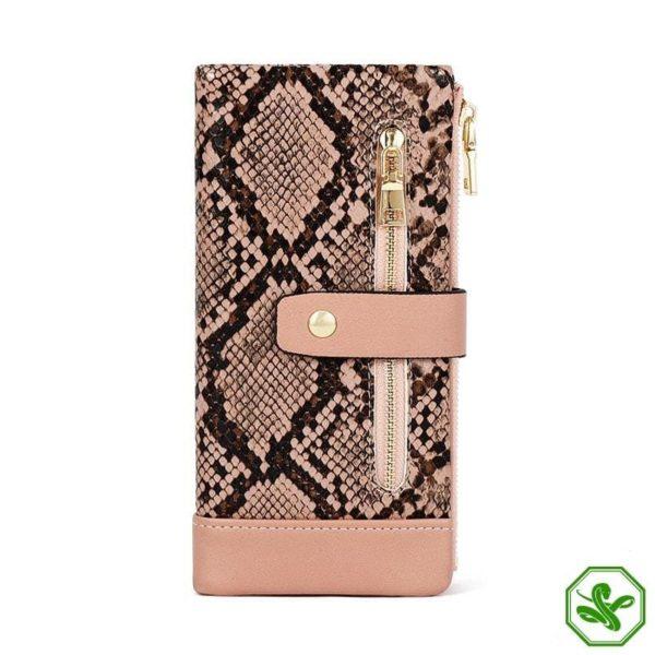 Pink Snakeskin Wallet Women