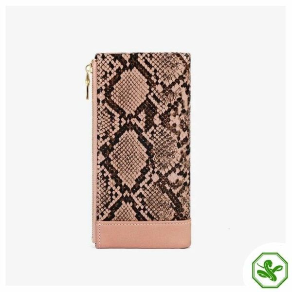 Pink Snakeskin Wallet for Woman
