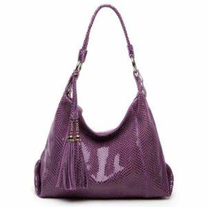 Purple Snakeskin Bag