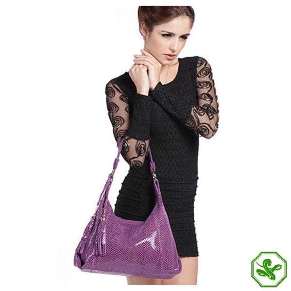 Women's Purple Snakeskin Bag