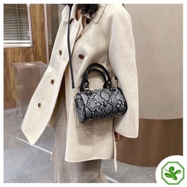 Black Python Crossbody Bag