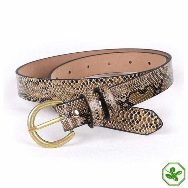 Snakeskin Python Belt