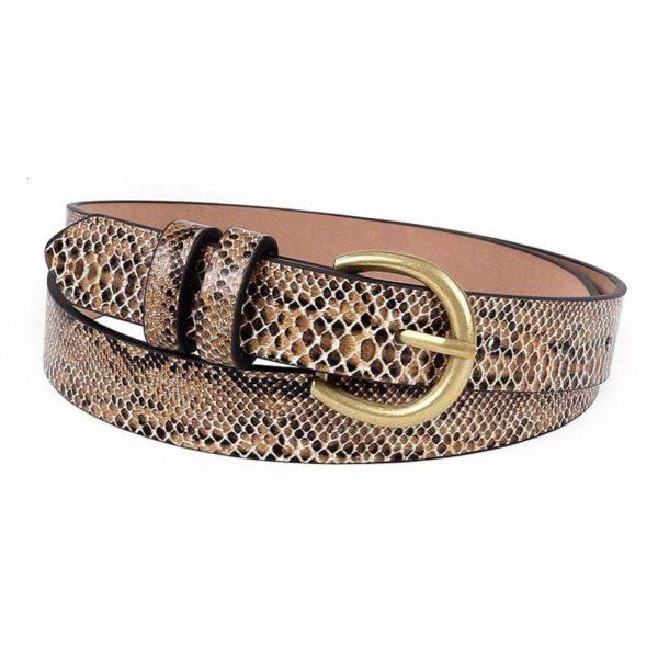 Python Snakeskin Belt