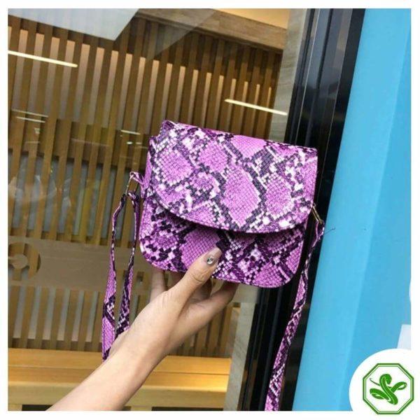 Pink Python Snakeskin Handbag for Woman