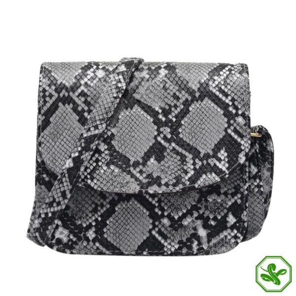 Gray Python Snakeskin Handbag