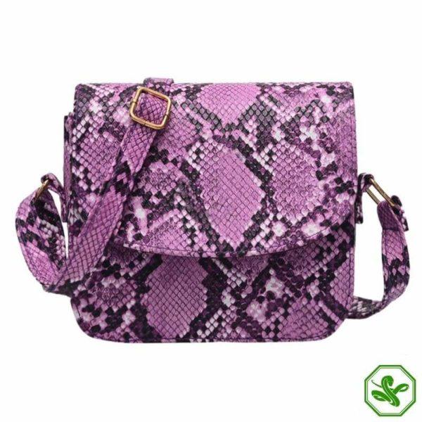 Pink Python Snakeskin Handbag