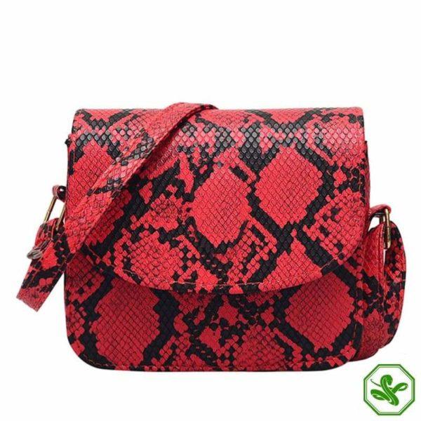 Red Python Snakeskin Handbag