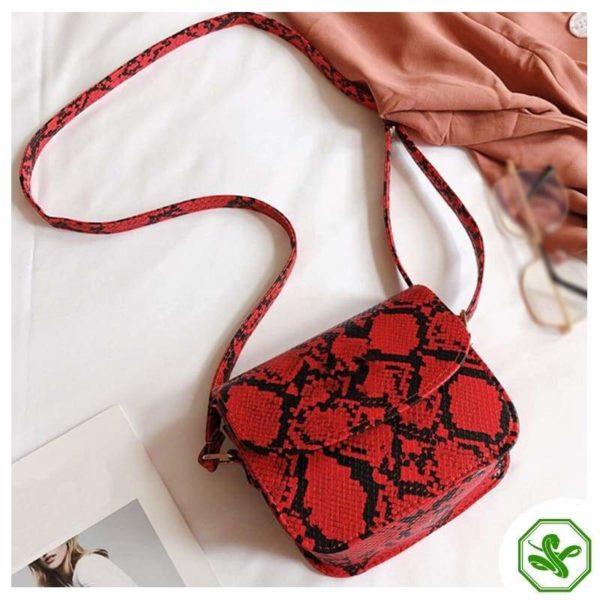 Women's Red Python Snakeskin Handbag