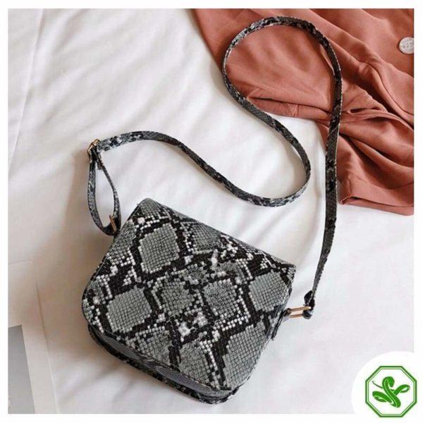 Gray Python Snakeskin Handbag for Woman