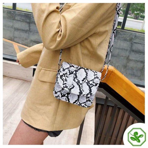 Women's White Python Snakeskin handbag