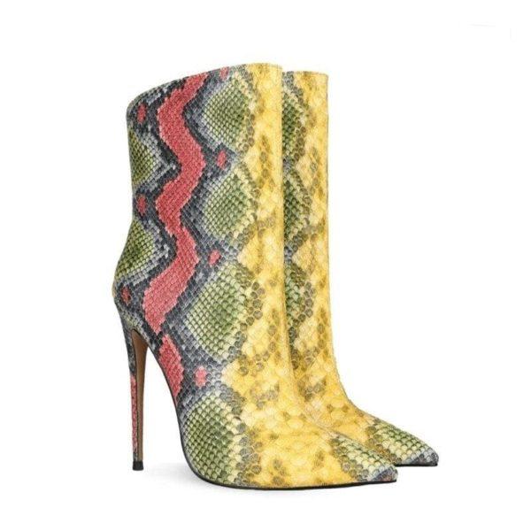 Rainbow Snakeskin Boots 1