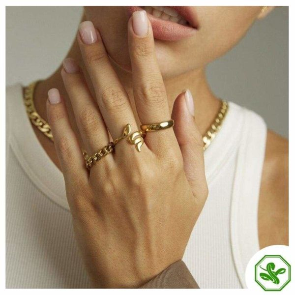 small gold snake ring