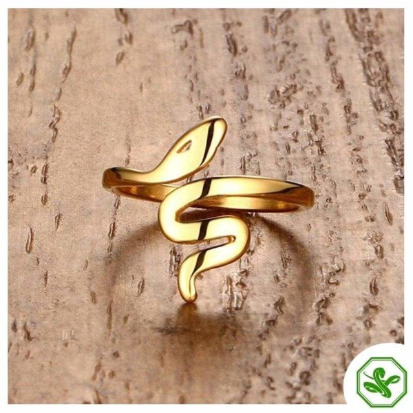 gold snake ring for woman