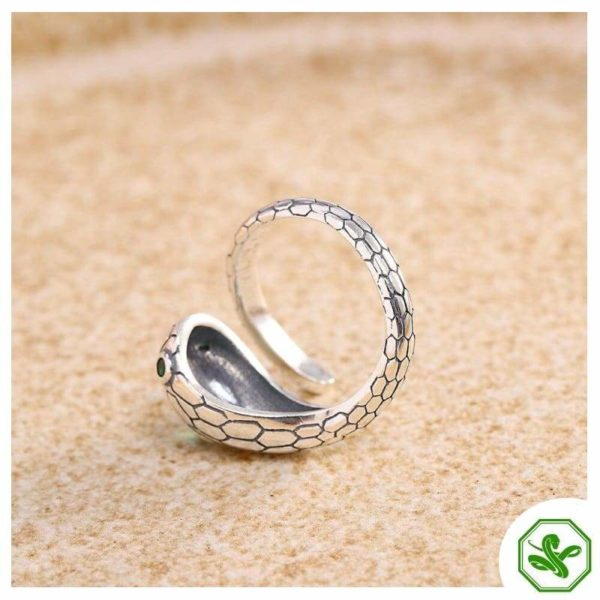 real-silver-snake-ring 6