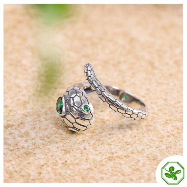 real-silver-snake-ring 5
